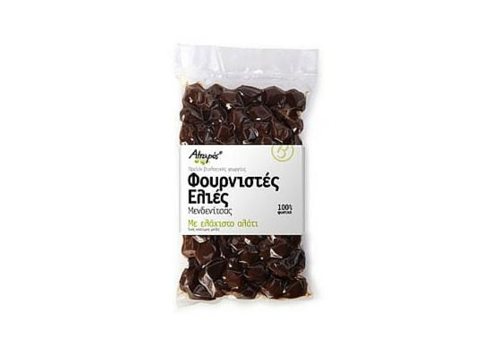 Organic Oven-Dried Black Olives φουρνιστές μαύρες ελιές λιγο αλάτι