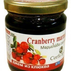 Μαρμελάδα Cranberry 'CORFU SPIRIT' 250gr