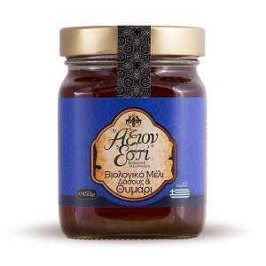 Βιολογικό Μέλι Δάσους & Θυμάρι 'ΑΞΙΟΝ ΕΣΤΙ' 450g
