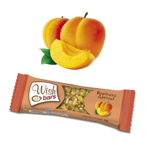 Energy Bar with Honey & Dried Apricot 'Wish Bars' 28pcs X 30gr Μπάρα Ενέργειας με Μέλι & Αποξηραμένο Βερίκοκο 'Wish Bars' 28τεμ Χ30gr