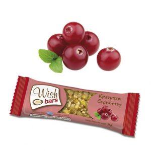Μπάρα Ενέργειας με Μέλι & Cranberry 'Wish Bars' 28τεμ Χ 25g