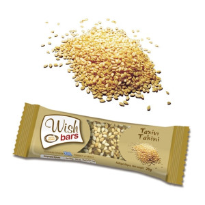 Natural Energy Bar with Honey, Nuts & Tahini 'Wish Bars' 28pcs X 25gr Μπάρα Ενέργειας με Μέλι & Ταχίνι Χ/Ζ 'Wish Bars' 28τεμ Χ 25gr