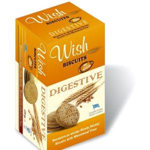 Μπισκότα Ολικής Άλεσης Χωρίς Ζάχαρη 'Wish Biscuits Digestive' 220g