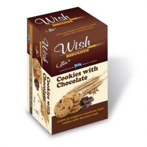 Μπισκότα με Σοκολάτας Υγείας Χ/Z 'Wish Biscuits' 90g