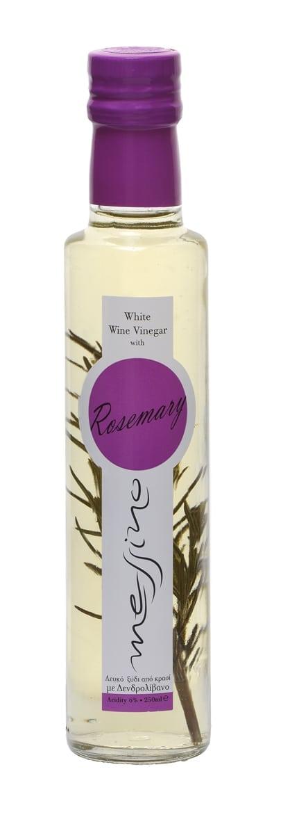 White Vinegar w Rosemary 'Messino' 250mlΑρωματικό Λευκό Ξύδι με Δεντρολίβανο 'Messino' 250ml