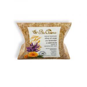 Σαπούνι Ελαιολάδου για Mωρά-Λεβάντα & Καλέντουλα 'BioAroma' 90gr