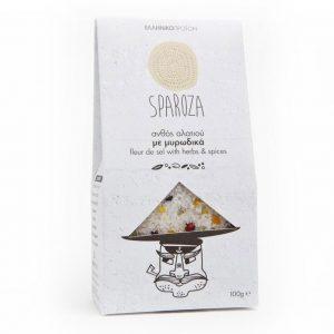 Fleur de Sel w Herbs & Spices 'SPAROZA' 100gr