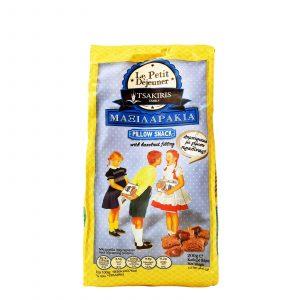 Σνακ Δημητριακών με Φουντούκι 'Μαξιλαράκια' Tsakiris Family 250gr