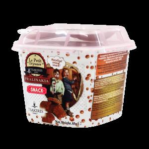 Σνακ Δημητριακών Σοκολάτας 'Πραλινάκια' Tsakiris Family 40gr