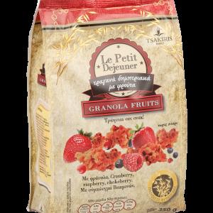 Δημητριακά με Granola και Φρούτα 'Tsakiris Family' 350grω