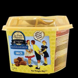 Σνακ Δημητριακών με Φουντούκι 'Μαξιλαράκια' Tsakiris Family 40gr