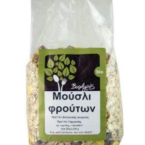 Fruit Muesli 'Bioagros' 500grΒιολογικό Μούσλι Φρούτων 'Βιοαγρός' 500gr
