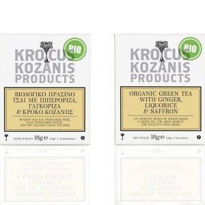 Βιολογικό Ρόφημα με Πιπερόριζα, Γλυκόριζα & Κρόκο Κοζάνης 'Krocus Kozanis Products' 18gr