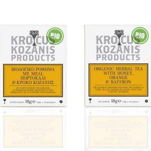 Βιολογικό Ρόφημα με Μέλι, Πορτοκάλι & Κρόκο Κοζάνης 'Krokus Kozanis Products' 18gr