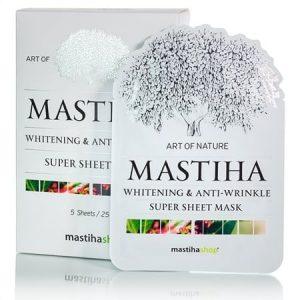 Λευκαντική & Αντιρυτιδική Μάσκα Προσώπου SHEET 'Mastiha Shop' 25ml