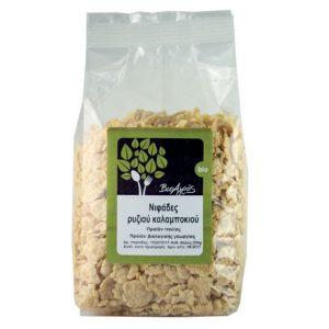 βιολογικές νιφάδες καλαμποκιού ρυζιού