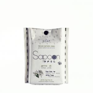 Σαπούνι με Γιασεμί, Μετάξι & Βιολογικό Παρθένο Ελαιόλαδο 'Sapoon' 110gr