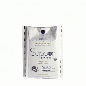 Σαπούνι με Μαστίχα, Μετάξι & Βιολογικό Παρθένο Ελαιόλαδο 'Sapoon' 110gr