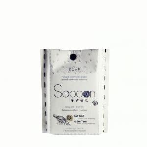 Σαπούνι με Θαλασσινό Αλάτι, Λούφα & Βιολογικό Ελαιόλαδο 'Sapoon' 120gr