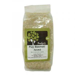 """Βιολογικό Ρύζι Μπασμάτι Λευκό 'Βιοαγρός' 3kgrOrganic Basmati Rice White """"Bioagros"""" 5kgr"""