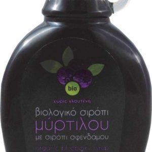 Βιολογικό Σιρόπι Μύρτιλο με Σφένδαμο 'Βιοαγρός' 250ml