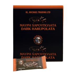 μαύρη χαρουπολάτα dark haroupolata
