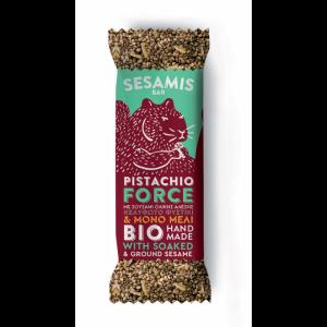 Organic Honey Sesame Bar PISTACHIO FORCE 'SESAMIS' 40gr