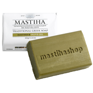 Traditional Greek Olive Oil Soap w Chios Mastiha 'MastihaShop' 100gr