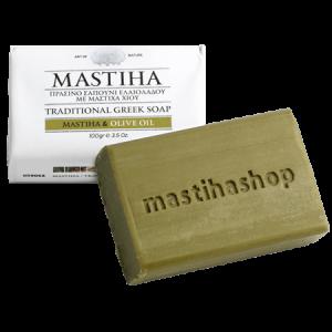 Πράσινο Σαπούνι με Μαστίχα Χίου 'MastihaShop' 100gr