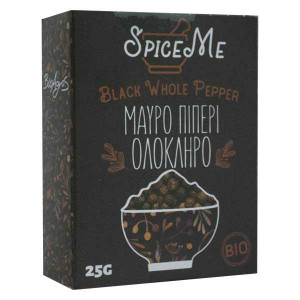 Organic Black Whole Pepper 'SPICE ME' 25gr