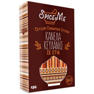 Βιολογική Κανέλα Κεϋλάνης Ξυλάκι 'Spice Me' 15gr