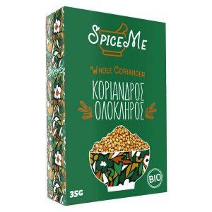 Organic Whole Coriander 'Spice Me' 35gr