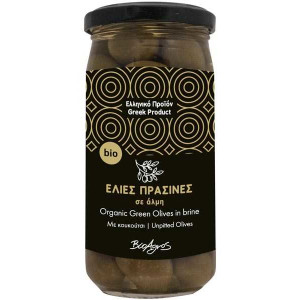 Organic Green Olives Unpitted 'Bioagros' 200gr