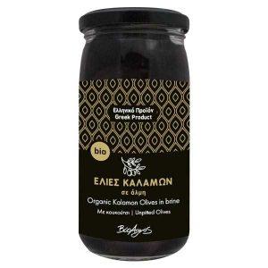 Organic Kalamon Olives in Brine 'Bioagros' 220gr