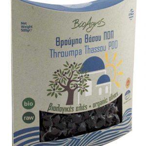 Organic PDO Throumpa Olives S/F 'Bioagros' 500gr