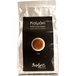 Βιολογικός Ελληνικός Καφές Καϊμάκι 'Βιοαγρός' 200gr