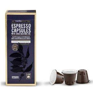Espresso Capsules w Chios Mastiha Oil 'MastihaShop'