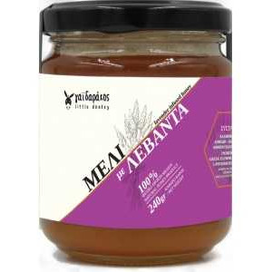 Μέλι με Αιθέριο Έλαιο Λεβάντας 'Γαϊδαράκος' 240gr Levander Infused Honey 'Gaidarakos' 240gr