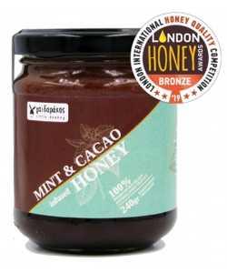 Μέλι με Αιθέριο Έλαιο Μέντας & Κακάο