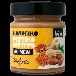 """Βιολογικό Φυστικοβούτυρο με Μέλι 'Βιοαγρός' 180gr Organic Peanut Butter w Honey 'Bioagros"""" 180gr"""