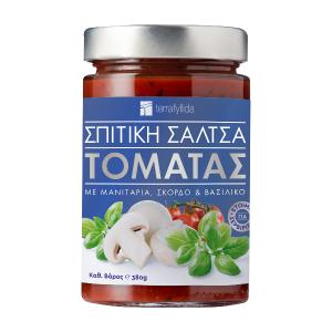 Σπιτική Σάλτσα Τομάτας Βασιλικού με Μανιτάρι 'TERRA FYLLIDA' 380g