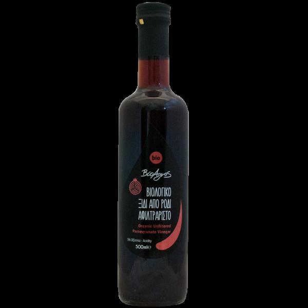Organic Pomegranate Vinegar Βιολογικό Ξύδι από Ρόδι