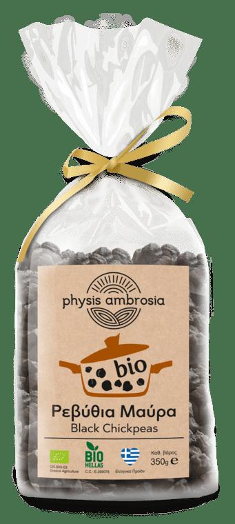 Βιολογικά Ρεβύθια Μαύρα Ελληνικά 'PHYSIS AMBROSIA' 350gr