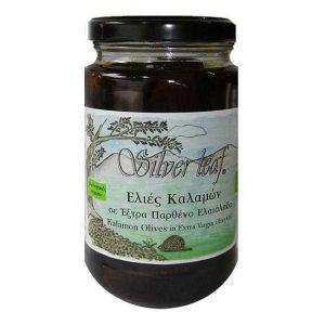 Βιολογικές Ελιές Καλαμών Χ/Κουκούτσι σε Ελαιόλαδο 'Silver Leaf' 300gr