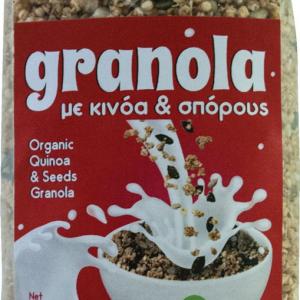 Βιολογική Γκρανόλα Κινόα Σπόροι Δημητριακών 'Βιοαγρός' 350gr